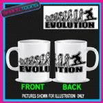 EVOLUTION MONKEY TO SNOWBOARDING COFFEE MUG